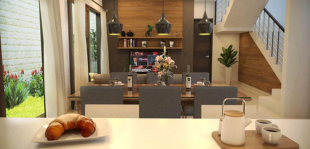 Rumah dijual di Cibubur | Interior Tipe C : 8x20m